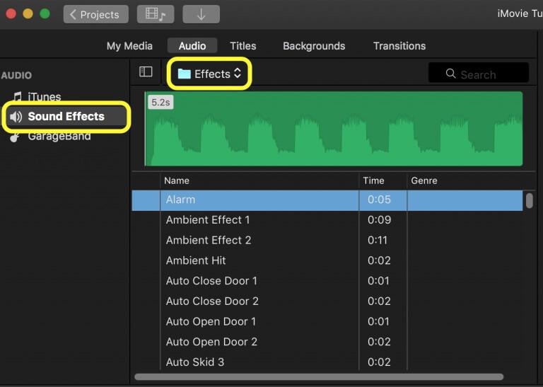 customize audio in imovie
