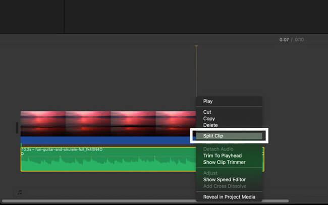 cut audio imovie