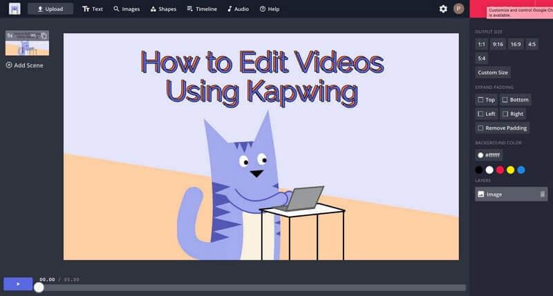 edit videos using kapwing