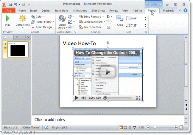 how to embed a video in powerpoint