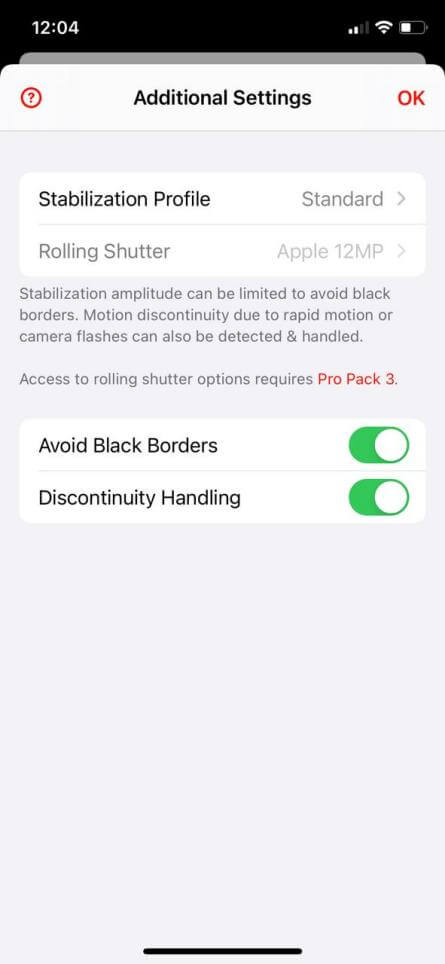 emulsio stabilizer additional settings