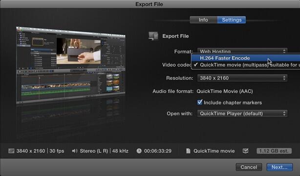 export on final cut pro x