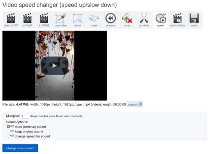 speed up instagram video ezgif change speed