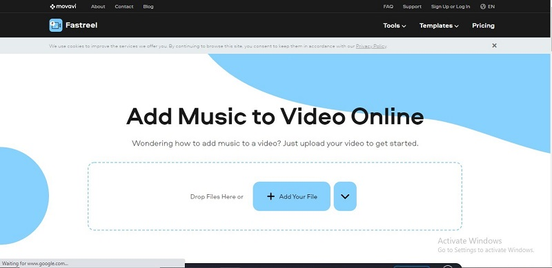 fastreel add music to video online