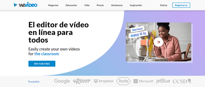 WeVideo:Facebook video creator