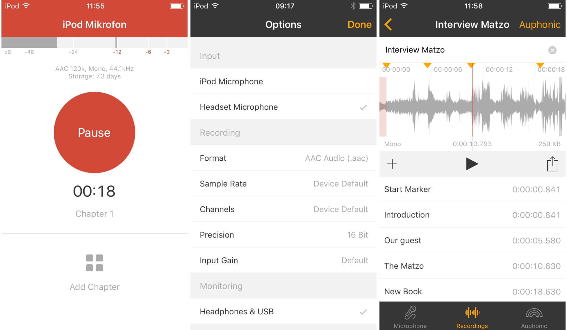 best audio recording app for iphone all models