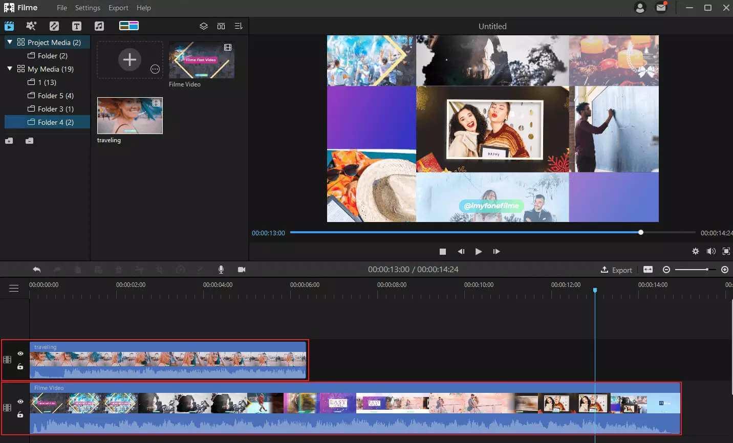 Filme video templates