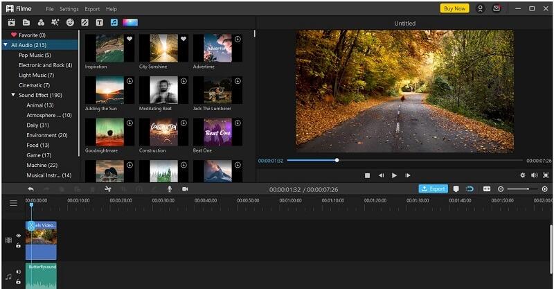 filme add music to video