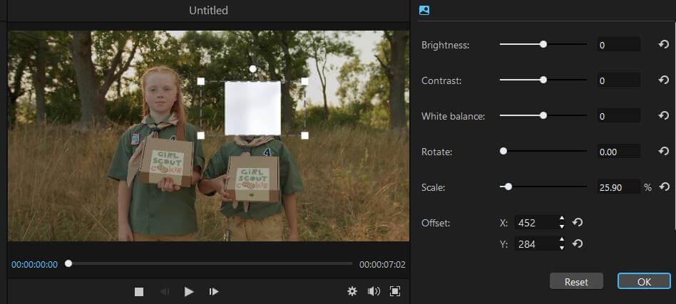 filme adjust blurred image on video