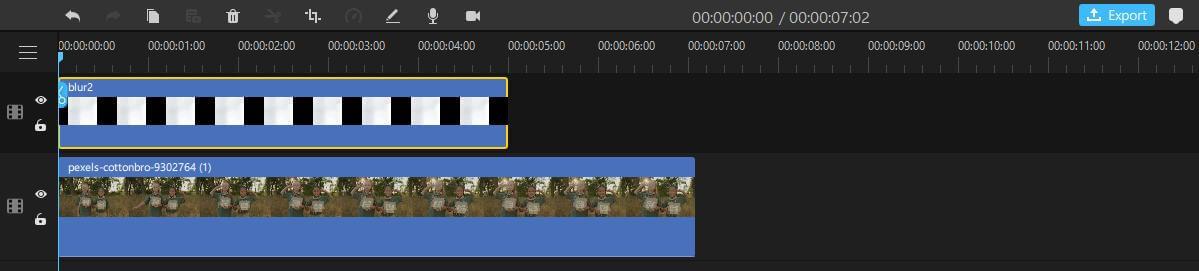 filme blurred image on timeline