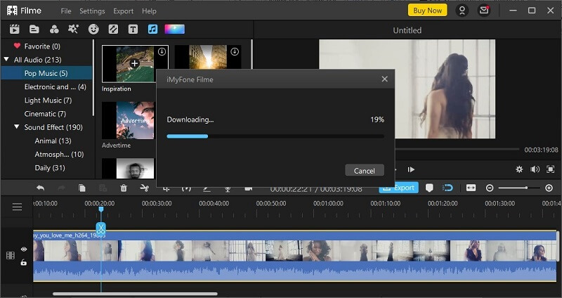 filme downloading pop up