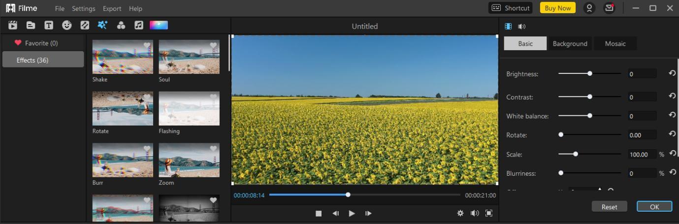 filme effects fix blurry video