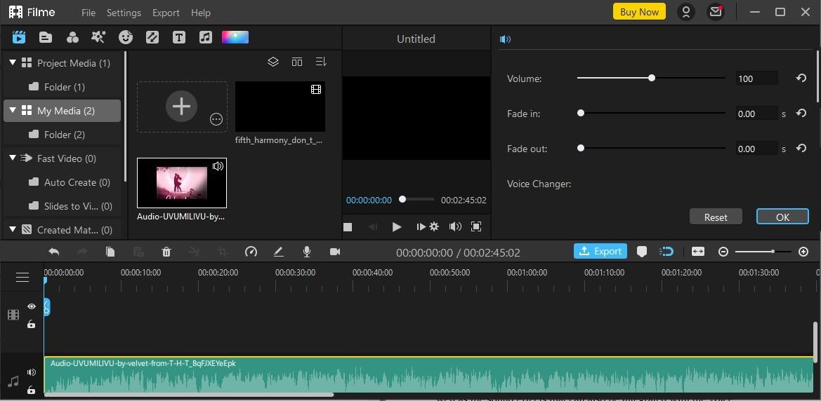 filme recording voice