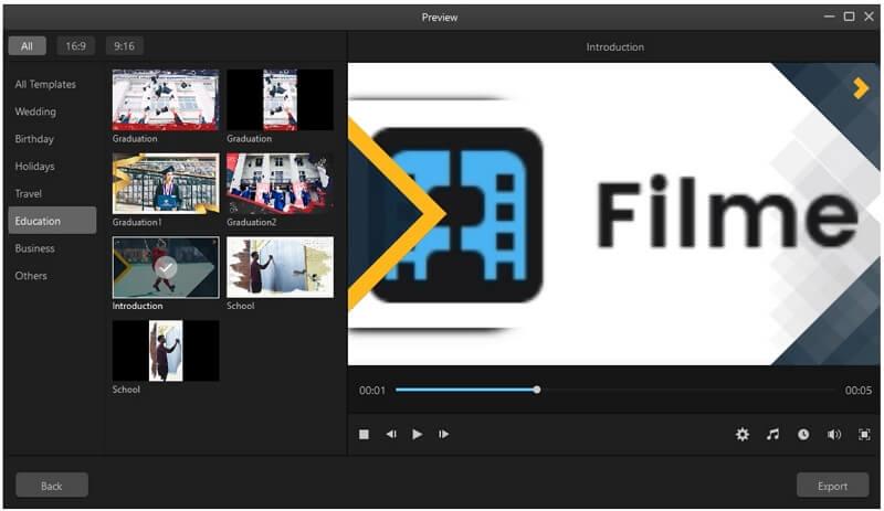 filme templates