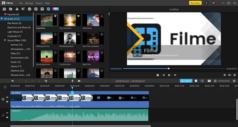 filme video editor intro