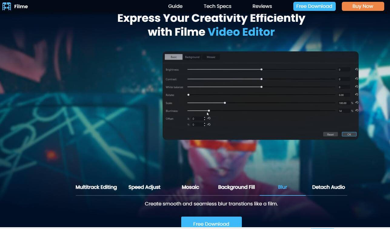 filme video editor new page