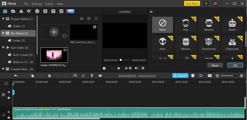 filme voice changer sound effects