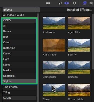 final cut pro blur effect