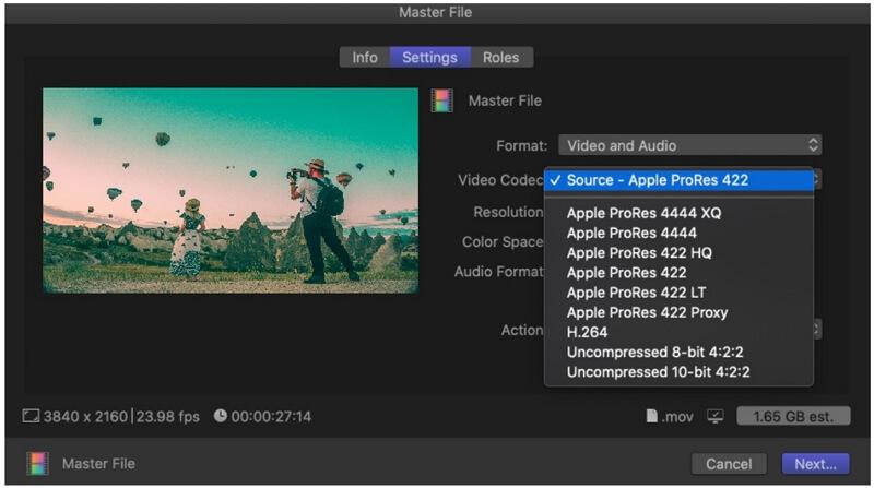 final cut pro export video