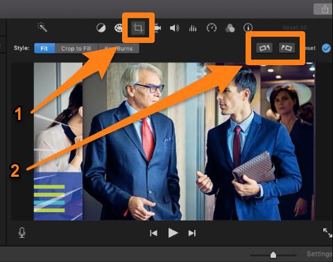 flip image in imovie on mac
