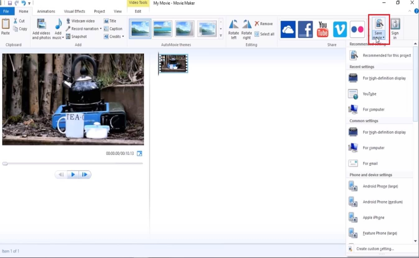 flip video from portrait to landscape using window media player2