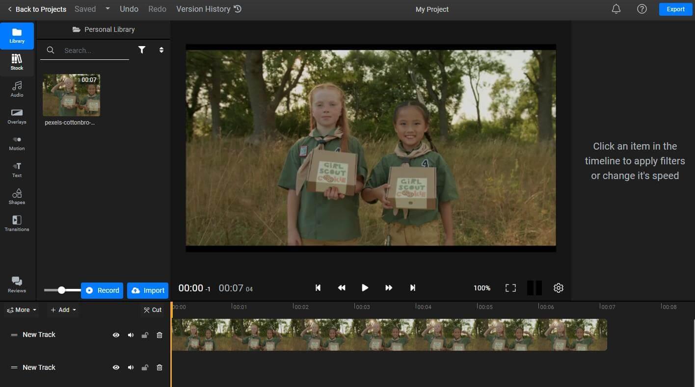 flixier import videos