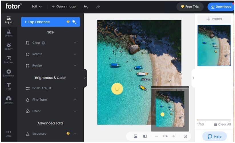 fotor remove emoji online