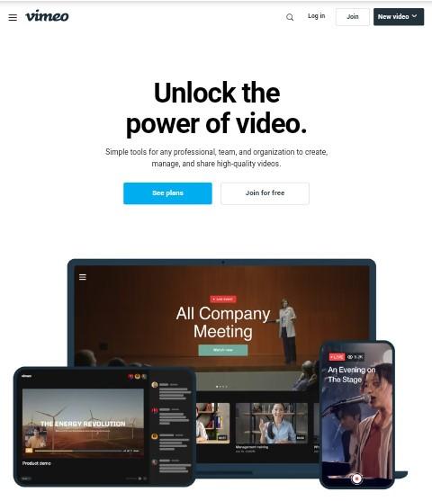 Vimeo free video template