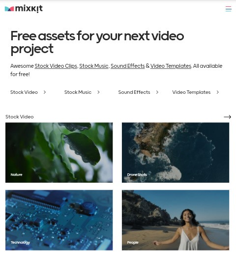 Mixkit free video template