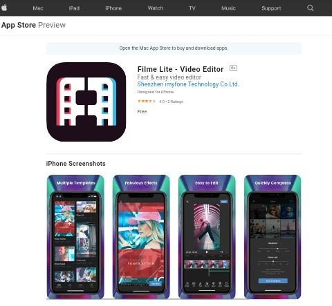 Filme Lite free video template