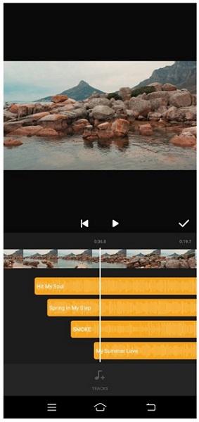 glitchcam add music to video