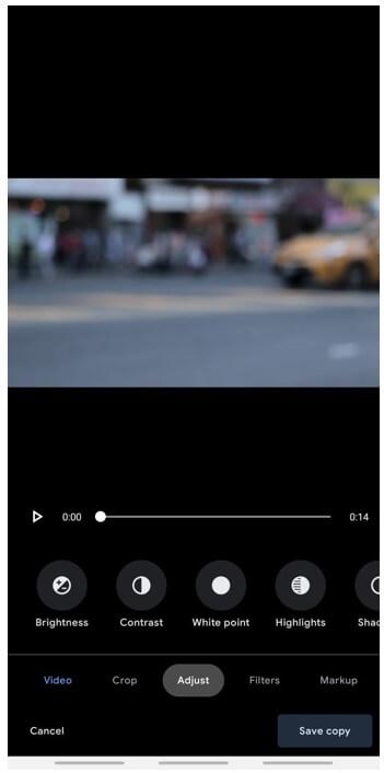 google photos adjustment