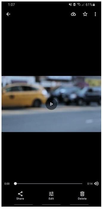 google photos select video