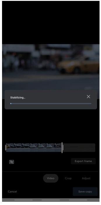 google photos video stabilization