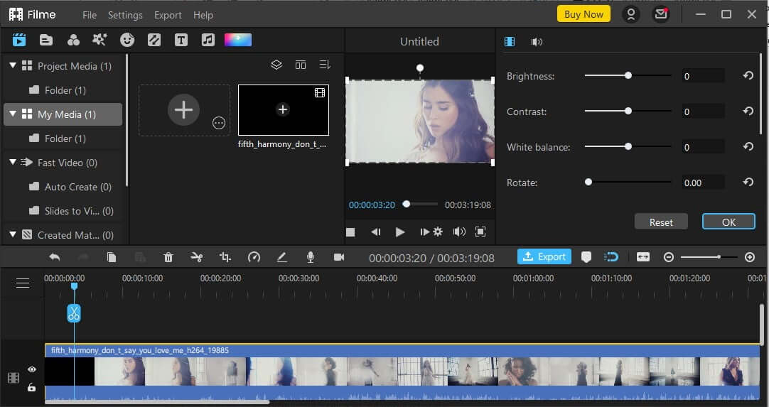 how to fix blurry youtube video with imyfone filme