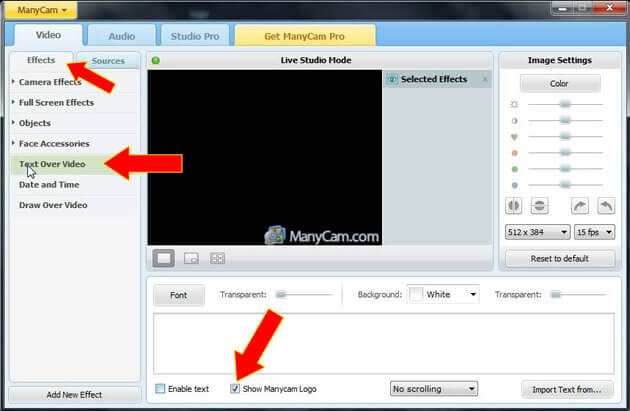 how to get rid of manycam logo2