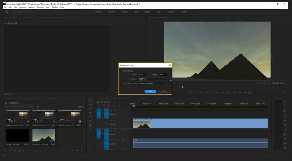 how to make adjustment layer in premiere pro1