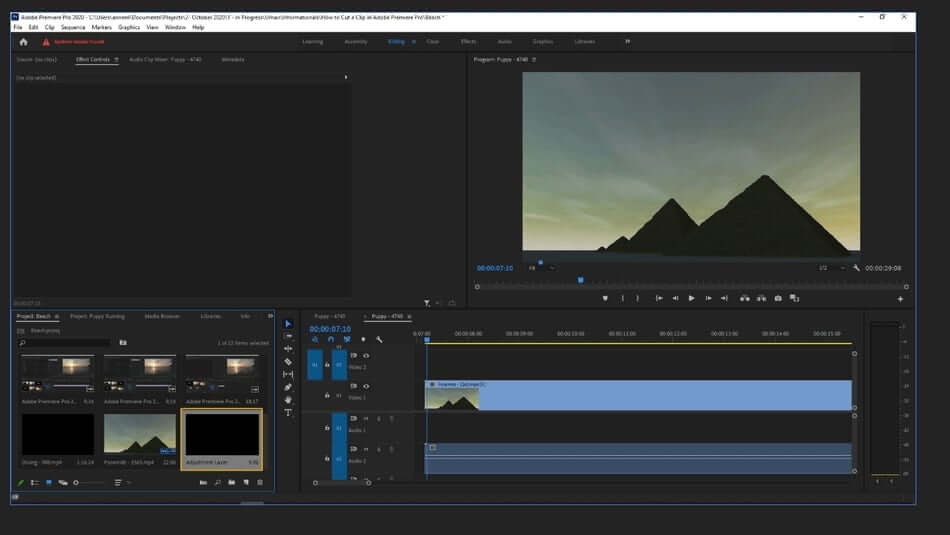 how to make adjustment layer in premiere pro2