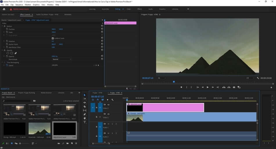 how to make adjustment layer in premiere pro3