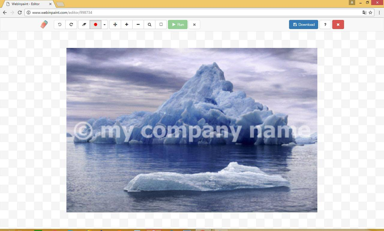 how to remove watermark from photo using inpaint1