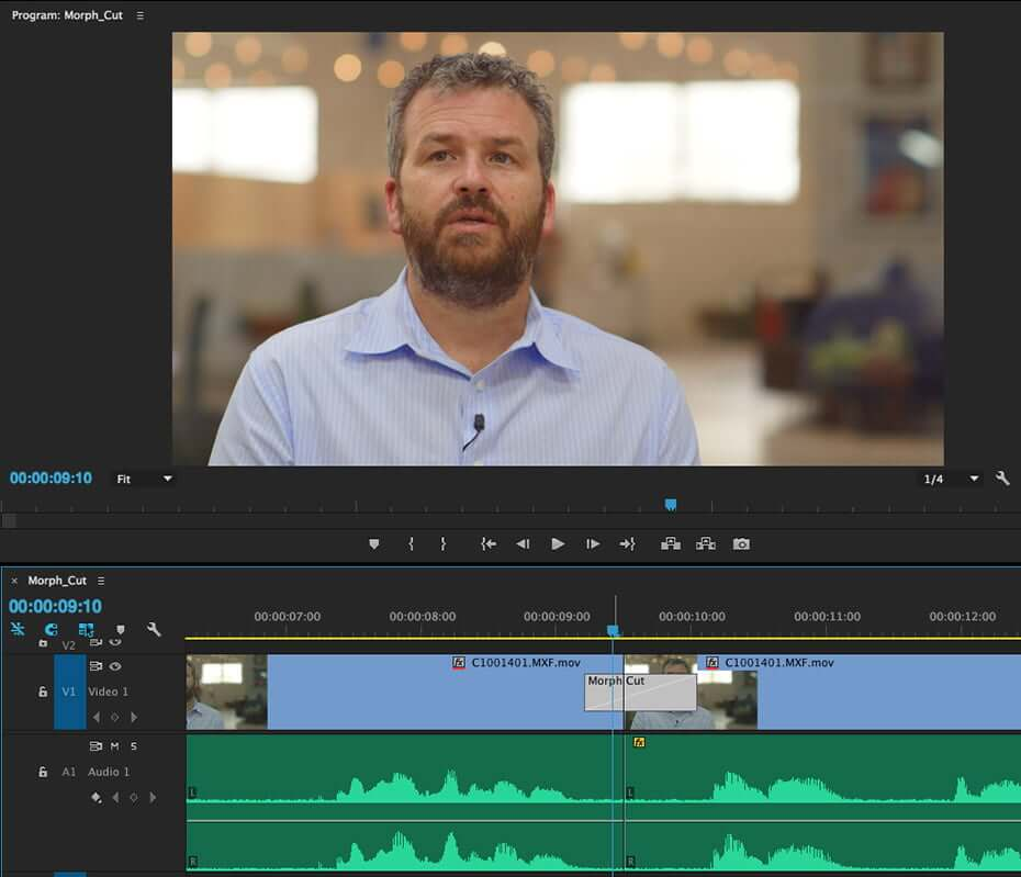 how to use morph cut transition plugin in premiere pro1