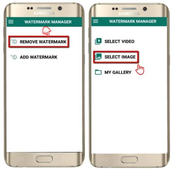 how to use remove and add watermark android1