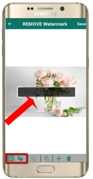 how to use remove and add watermark android2
