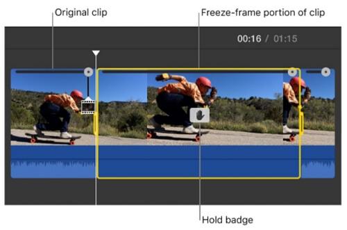 imovie add freeze frame