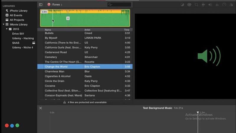 imovie add music choice
