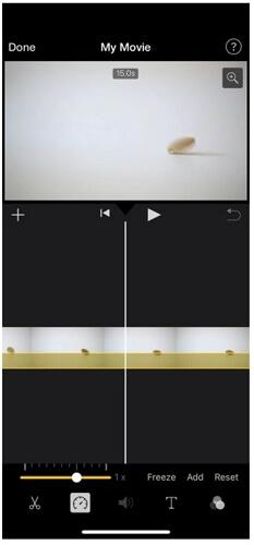 imovie frame freeze