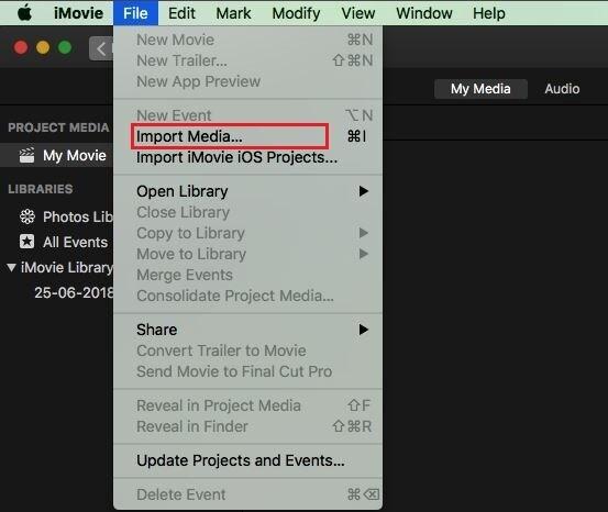 imovie import media mac and ios