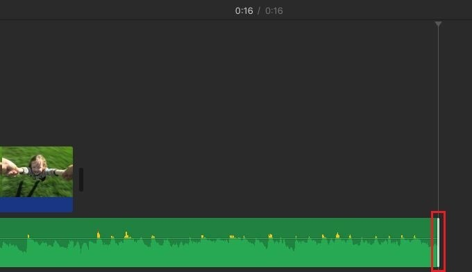 imovie trim song size to video