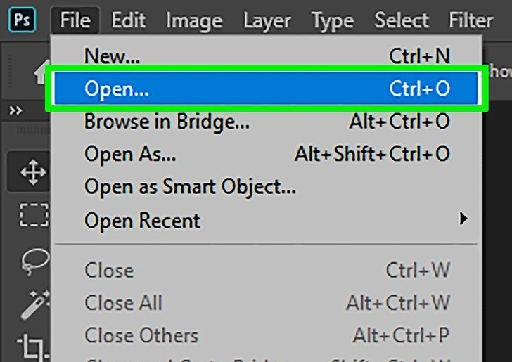 import file in photoshop