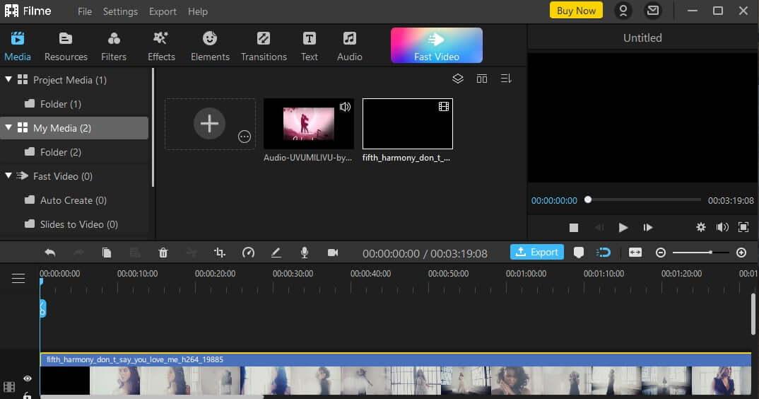 import file on iMyFone Filme2